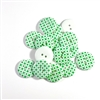 Green Patterned Resin Buttons - 23mm
