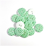 Green Patterned Resin Buttons - 23mm, Set of 4