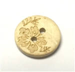 Carved Coconut Shell Buttons - 13mm