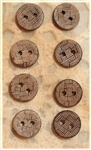 Carved Coconut Shell Buttons - 1/2""
