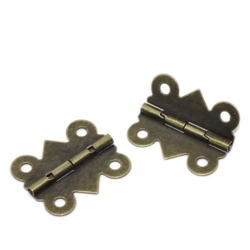 4 Piece Bronze Tone Hinges for Scrapbooking and Mixed Media