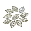10 Piece Tiny Bronze Leaf Embellishments