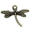 Tiny Bronze Dragonfly Charms - set of 10