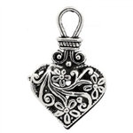 Antique Silver Heart Charm