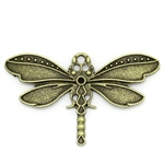 2 Piece Antiqued Bronze Dragonfly Charm