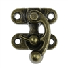 Antique Bronze Metal Hook Box Latch Set (2 sets)