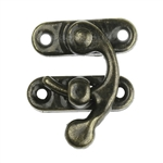 Small Antique Bronze Metal Hook Box Latch Set (2 sets)