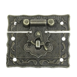 Antique Bronze Decorative Box Hasp Latch