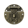 Butterfly Clasp Antique Bronze Box Lock