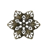 6 Piece Small Antique Bronze Flower Filigree Pieces