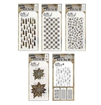 Stampers Anonymous Tim Holtz Stencil Bundle - Holiday 2020 Releases