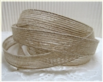 Natural Woven Jute Ribbon - 5/8""