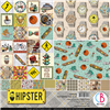 Ciao Bella - Hipster 12x12 Paper Pad - 8pc CBTO035