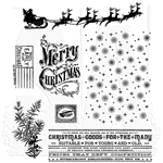 Stampers Anonymous Tim Holtz Stamp Set - Christmas Nostalgia CMS207