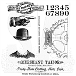Stampers Anonymous Tim Holtz Stamp Set - Dapper CMS267