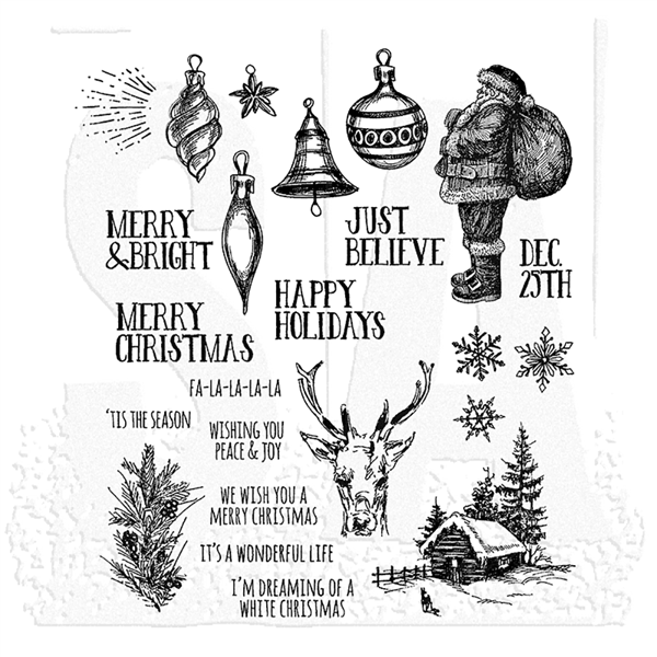 Stampers Anonymous Tim Holtz Stamp Set - Holiday Drawings CMS284