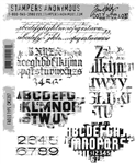 Stampers Anonymous Tim Holtz Stamp Set - Faded Type CMS397