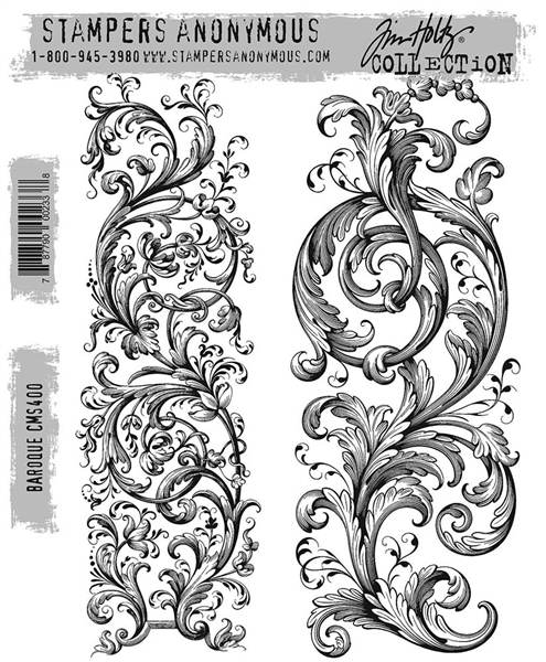 Stampers Anonymous Tim Holtz Stamp Set - Baroque CMS400