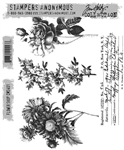 Stampers Anonymous Tim Holtz Stamp Set - Flower Shop CMS401