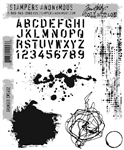 Stampers Anonymous Tim Holtz Stamp Set - Grunged CMS402