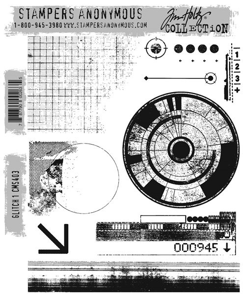 Stampers Anonymous Tim Holtz Stamp Set - Glitch 1 CMS403