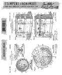 Stampers Anonymous Tim Holtz Stamp Set - Inventor 9 CMS406