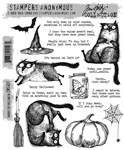 Stampers Anonymous Tim Holtz Stamp Set - Snarky Cat Halloween CMS407