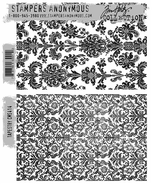 Stampers Anonymous Tim Holtz Stamp Set -  Tapestry CMS414