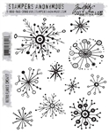 Stampers Anonymous Tim Holtz Stamp Set -  Retro Flakes CMS417