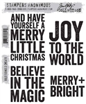 Stampers Anonymous Tim Holtz Stamp Set - Bold Tidings 2 CMS419