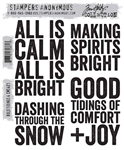 Stampers Anonymous Tim Holtz Stamp Set - Bold Tidings 4 CMS421