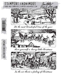 Stampers Anonymous Tim Holtz Stamp Set - Holiday Scenes CMS425