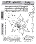 Stampers Anonymous Tim Holtz Stamp Set - The Poinsettia CMS426