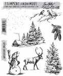 Stampers Anonymous Tim Holtz Stamp Set - Winterscape CMS428