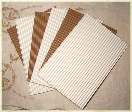 Corrugated Cardboard Mixed White And Kraft 6 Sheets