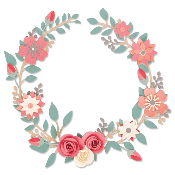 Sizzix Chapter 2 Thinlits Dies - Wedding Wreath by Olivia Rose 663862