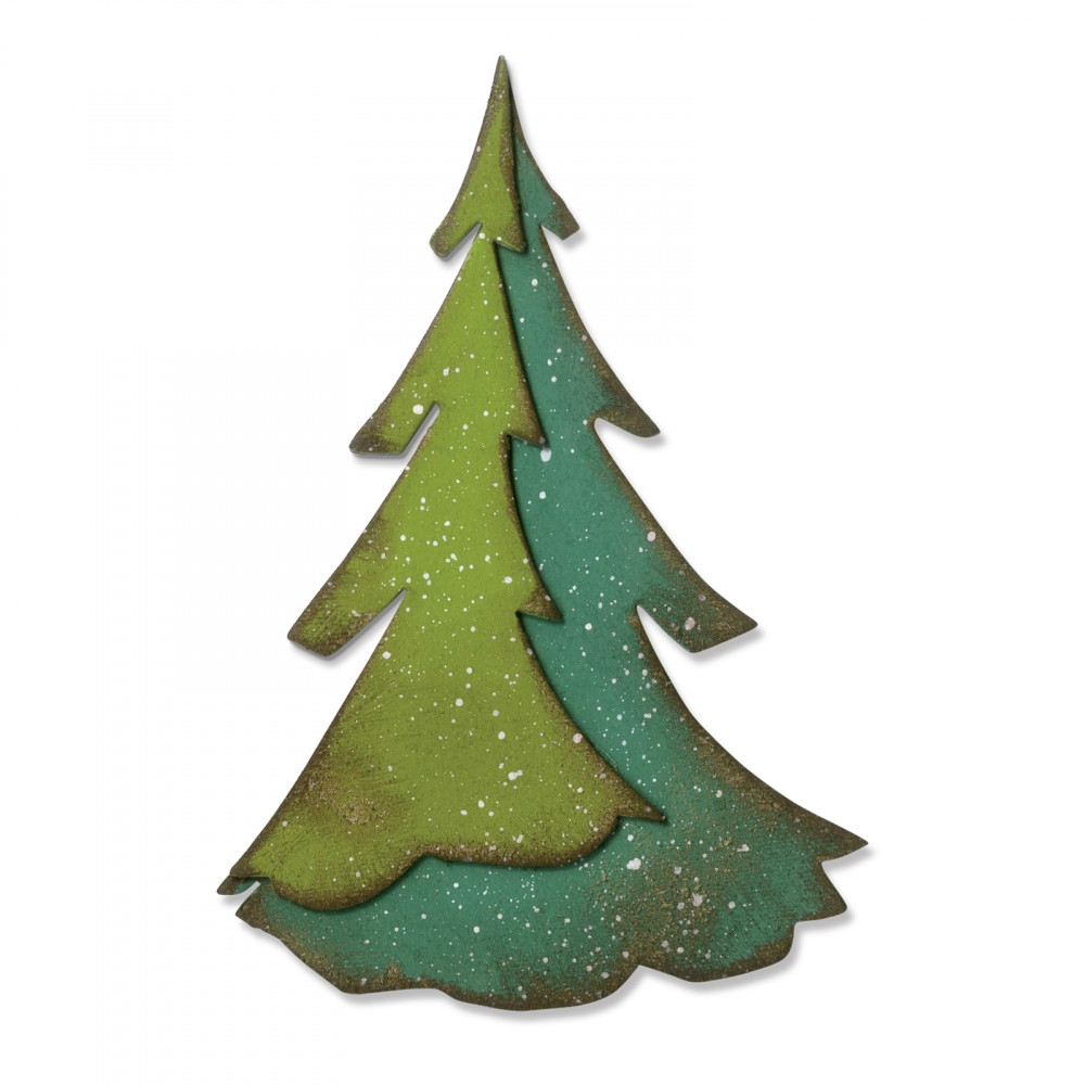 Large Sizzix Paper Pine by Tim Holtz Punch//Die-Cut