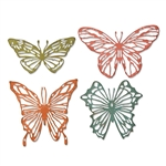 Sizzix Chapter 1 Tim Holtz Thinlits Dies - Scribbly Butterflies 664409