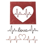 Sizzix Chapter 1 Tim Holtz Thinlits Dies - Heartbeat 664416