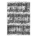 Sizzix Chapter 1 Tim Holtz 3-D Textured Impressions Embossing Folder - Typewriter 664760