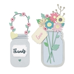 Sizzix Chapter 1 Thinlits Die Set - Jar of Flowers by Lisa Jones 665079