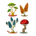 Sizzix Chapter 1 Tim Holtz Thinlits Die Set - Funky Toadstools 665216