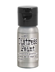 Tim Holtz Ranger Metallic Distress Paint - Brushed Pewter TDF52968