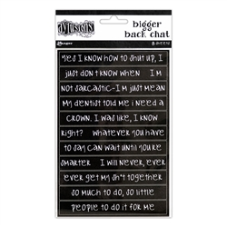 Dylusions Stickers - Black Chat Large