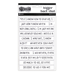 Dylusions Stickers - White Chat Large