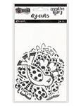 Dylusions Creative Dyary Die Cuts - 3 (Black & White Birds & Flowers)