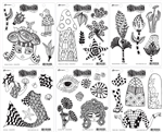 (JULY PRE-ORDER) Dylusions Stamp Set Bundle July 2019 Releases