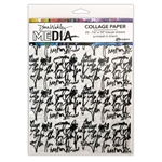 Dina Wakley Media Collage Paper - Just Words MDA74618