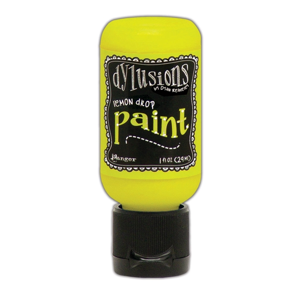Ranger Dylusions Paint 1oz Flip Cap - Lemon Drop DYQ70528