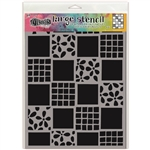 Ranger Dylusions Stencil, Large - Square Dance DYS75325